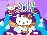 Украшение новогоднего торта Хелло Китти / Hello Kitty New Year Cake Decor