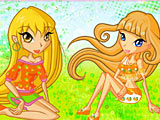 Чиби Винкс: пазлы / Chibi Winx Club Rotate Puzzle
