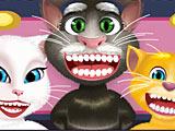 Говорящий кот Том лечит зубы