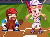 Хейзел играет в бейсбол