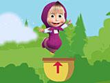 Маша прыгает в корзину