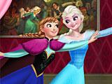 Холодное сердце Эльза и Анна катаются на роликах