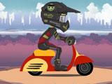 Гонки на мотоциклах: трюки в горах