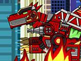 Собирать роботов: трансформер динобот пожарный робот Спинозавр