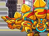 Собрать робота динозавра золотого Стегозавра