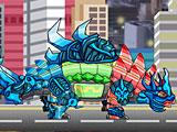 Собрать робота динозавра Динобота Рыцаря Анкилозавра