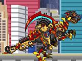 Роботы Динозавры: собрать Велоцираптора