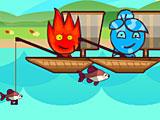 Огонь и Вода на двоих ловят рыбу