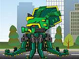 Собрать робота динозавра: трансформера древнего осьминога Октопуса