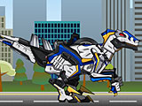 Роботы динозавры: Собирать Велоцираптора Копа