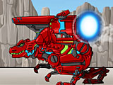 Собрать робота динозавра: красный динобот трансформер Тираннозавр