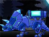 Собирать роботов динозавров: Синий трансформер динобот Трицератопс