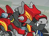 Роботы трансформеры: динозавр истребитель