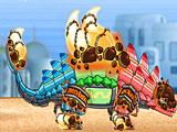 Роботы динозавры: собрать трансформера динобота рыцаря Анкилозавра