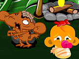 Счастливая обезьянка: Уровень 427 — Ведьма в лесу / Зомби Обезьяны