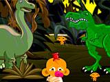 Счастливая обезьянка: Уровень 471 Тираннозавр Брахиозавр и Птеродактиль Земля Динозавров