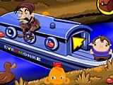 Счастливая обезьянка: Уровень 515 Пасха Лодка Села На Мель В Канале