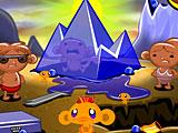 Счастливая обезьянка Уровень 563 Обезьяны на ледниках во время жары